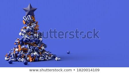 mézeskalács · ember · fából · készült · karácsony · díszítések · étel · zöld - stock fotó © zerbor