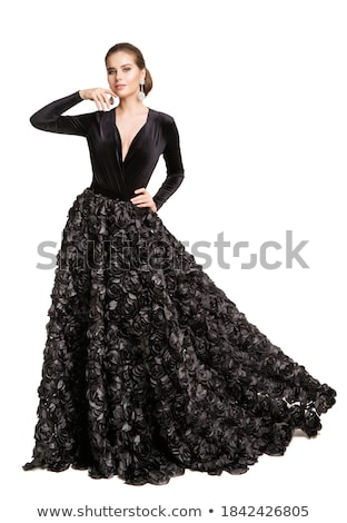 egy · nő · szamba · táncos · fehér · tánc · fekete - stock fotó © artjazz