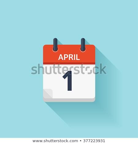 первый · календаря · 3d · визуализации · красный · белый · числа - Сток-фото © kiddaikiddee