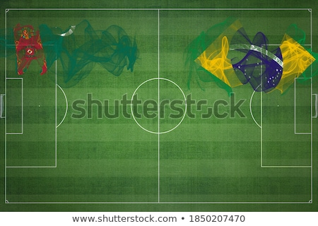 Brazília Türkmenisztán zászlók puzzle izolált fehér Stock fotó © Istanbul2009