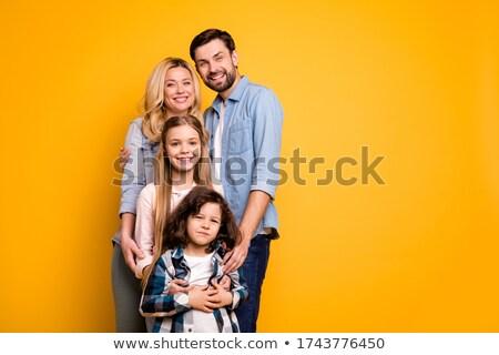 Color familia cuatro sonrisa amor Foto stock © Paha_L