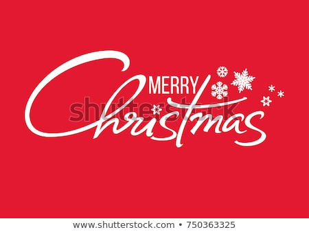 Merry christmas  handwritten text on background with snowflakes. Vector illustration EPS10 stock photo © rommeo79