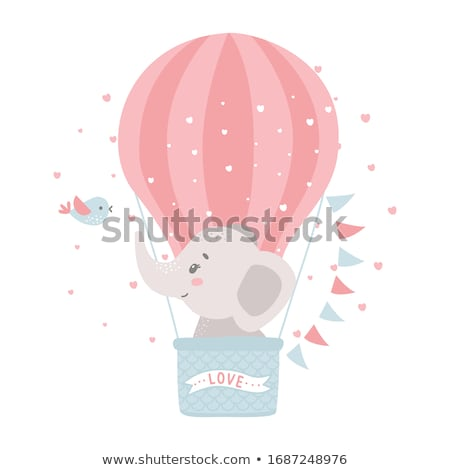 Stock photo: hot air balloon for baby girl