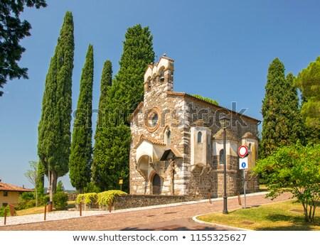 Château chapelle Italie bâtiment ville Voyage Photo stock © LianeM