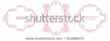 フレーム ピンク ダマスク織 抽象的な デザイン ストックフォト © Morphart
