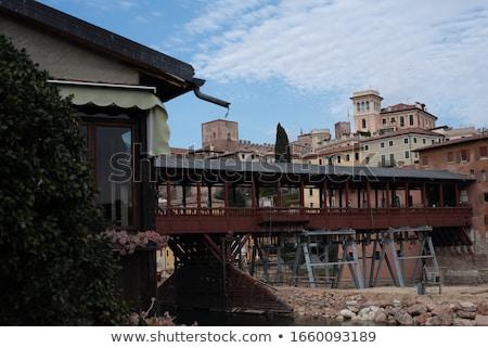Bassano del Grappa Ponte Vecchio night Stock photo © LianeM
