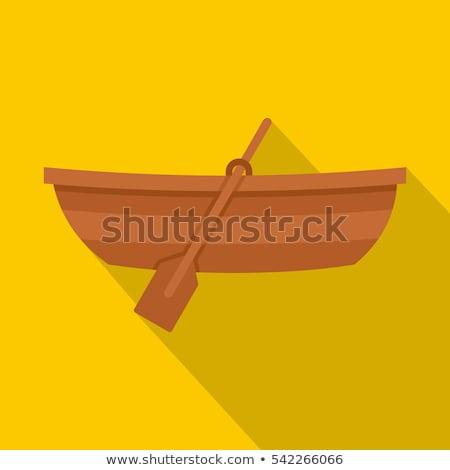 Remo barco ilustração branco água pescaria Foto stock © ConceptCafe