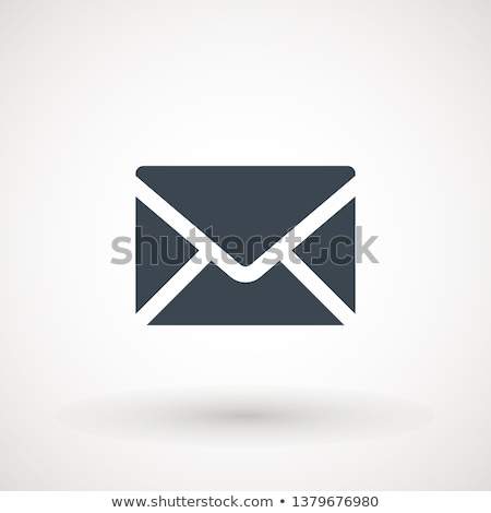 email symbol blue isolated on black background stock photo © zeffss
