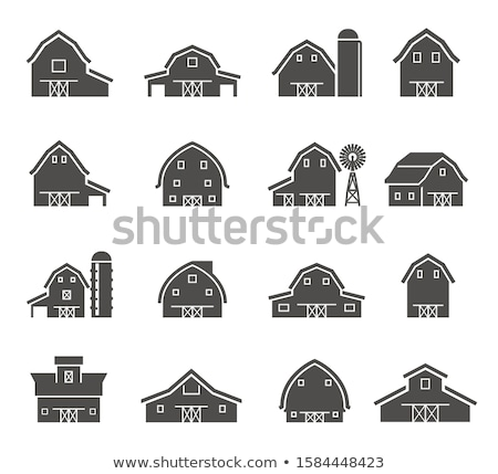 фермы · дома · области · красивой · пейзаж · закат - Сток-фото © patrimonio