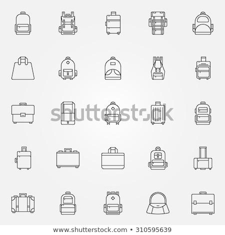 toeristische · backpacker · lijn · icon · web · mobiele - stockfoto © rastudio