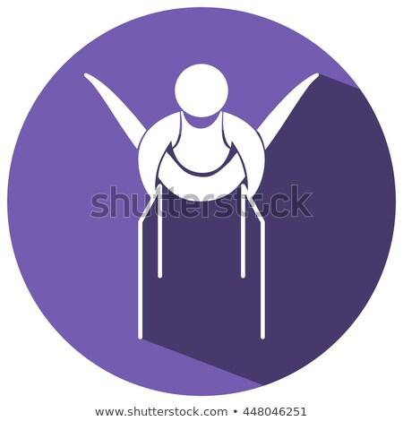 Deporte icono gimnasia bares ilustración diseno Foto stock © bluering