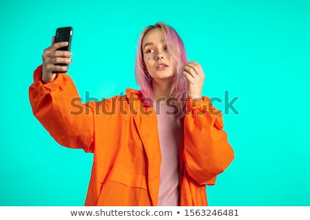 People make extraordinary Selfie Stock photo © studioworkstock