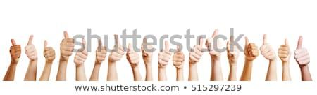 Thumbs up for Teamwork concept Stock photo © stevanovicigor