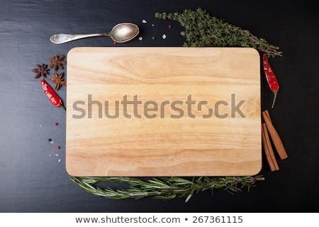 Coarse sea salt on cutting board Stock photo © Digifoodstock