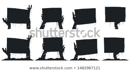 зомби пусто иллюстрация фон знак ходьбе Сток-фото © bluering