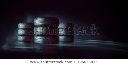 Autógumi köteg halom gumi autóipari kerekek Stock fotó © Lightsource