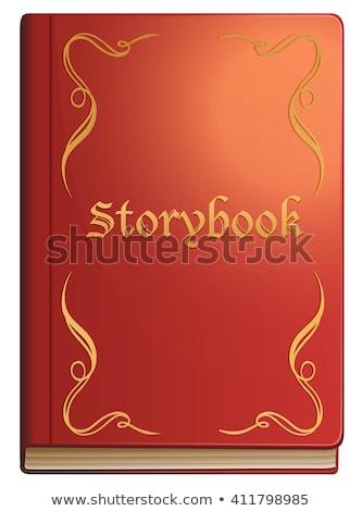 Verhalenboek Rood boek achtergrond kunst onderwijs Stockfoto © bluering