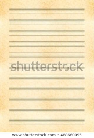 サイズ 黄色 シート 古い紙 音楽 注記 ストックフォト © Evgeny89