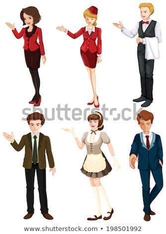 六人 不同 插圖 白 辦公室 商業照片 © bluering