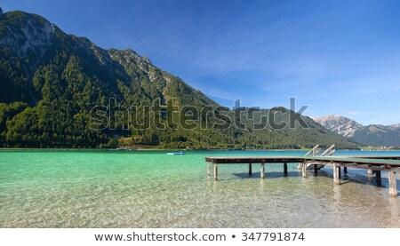 ぬれた · 湖 · 水生の · 植生 · 空 · 水 - ストックフォト © capturelight