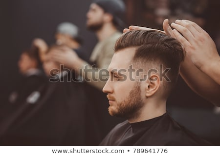 理髪 クライアント あごひげを生やした 入れ墨 ルックス ストックフォト © bezikus
