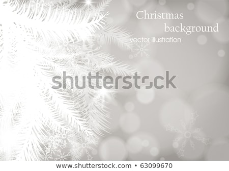 Christmas tree branch on a blue background. EPS 10 Stock photo © beholdereye