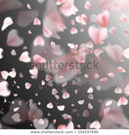 Stockfoto: Naadloos · roze · vliegen · bloemblaadjes · sakura · eps
