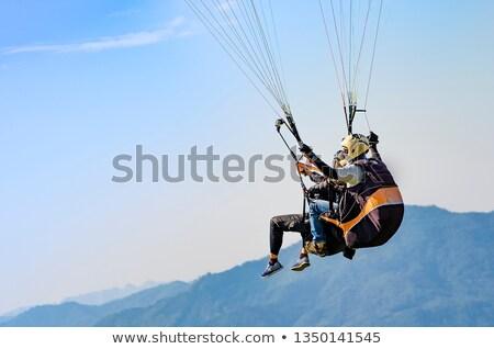 Biały wiatr latać spadek Zdjęcia stock © OleksandrO