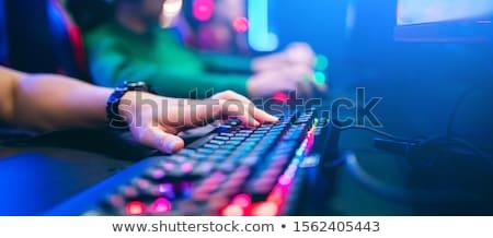 teclado · teia · desenvolvimento · botão · laranja - foto stock © oakozhan