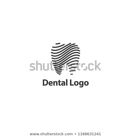 Abstrato dente ilustração belo brilhante projeto Foto stock © Tefi
