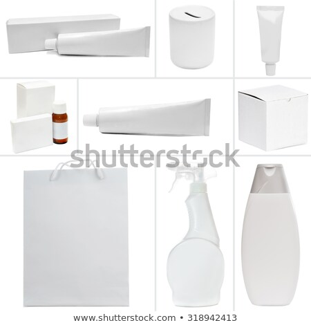 cream pack isolated bank cosmetics on white background stock photo © maryvalery