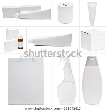 kozmetikai · krém · csomag · vázlat · fehér · tükröződő - stock fotó © maryvalery