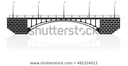歩行者 橋 パノラマ ウクライナ スカイライン 川 ストックフォト © joyr
