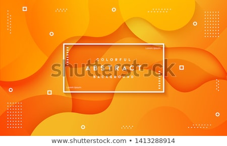 Stockfoto: Vector · abstract · oranje · golf · transparant · sjabloon