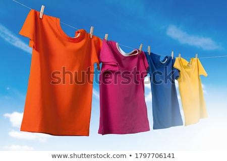 Laundry on the clothesline Stock photo © hamik