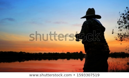Fishing on a cloud. Stock photo © Fisher