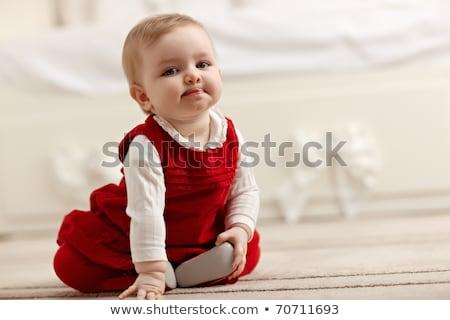 Сток-фото: сидят · полу · что · вверх · ребенка