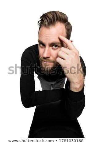 задумчивый человека стороны лоб камеры Сток-фото © feedough
