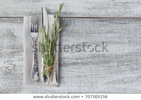 таблице · коричневый · украшение · свежие · цветы - Сток-фото © manera