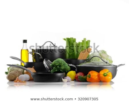 Primo piano sedano acciaio inossidabile cucina commerciali Foto d'archivio © wavebreak_media