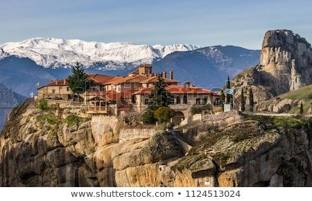 Breathtaking monasteries of Meteora. Central Greece Stock photo © Freesurf