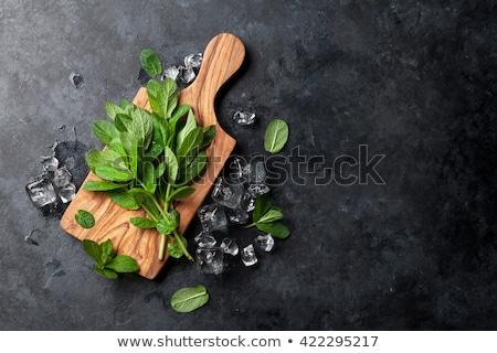 мята листьев разделочная доска свежие Сток-фото © Digifoodstock