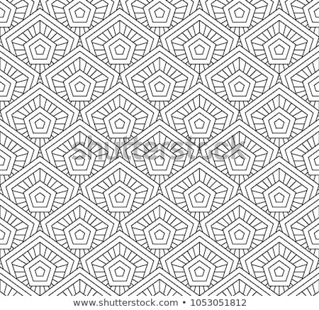 Coloring book geometric form pentagon Stock photo © Olena