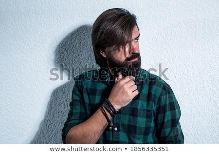 caucásico · hombre · blanco · camisa · de · moda - foto stock © zdenkam