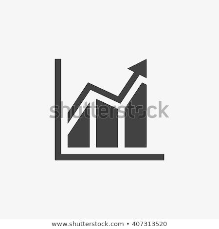 Vector growing graph icon Stock photo © Olena