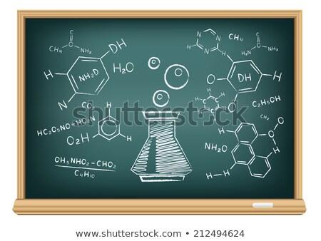 Aprender química blanco tiza pizarra Foto stock © tashatuvango