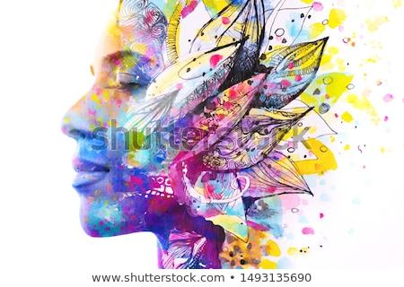 аннотация Creative множественный красочный цветы Сток-фото © pathakdesigner