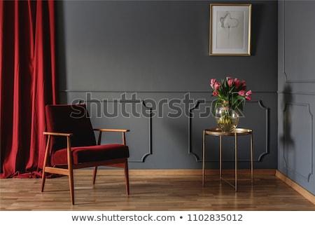 Effettivo rosso tende strisce abstract pattern Foto d'archivio © stevanovicigor
