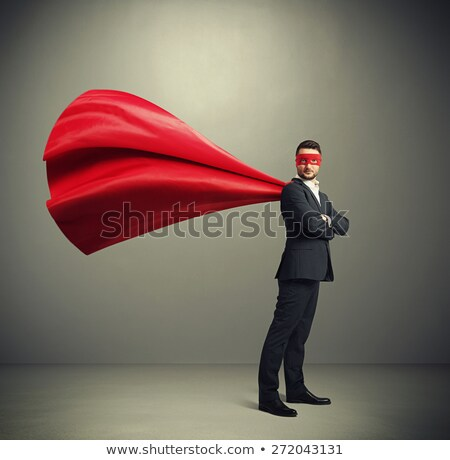 zakenman · held · illustratie · knap · zakenman · permanente - stockfoto © rastudio