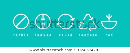 öko · nyilak · újrahasznosít · vektor · ikon · logo - stock fotó © olena